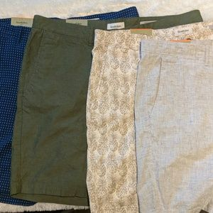 NWT 4 PAIR OF GOODFELLOW & CO SHORTS W40